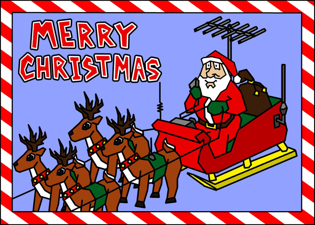 Ham Radio Christmas Card 2 by CyrusNarcissus
