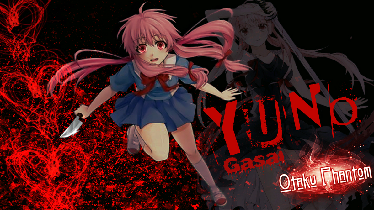 Gasai Yuno Mirai Nikki Blood Wallpaper By Joe Paulo22s2