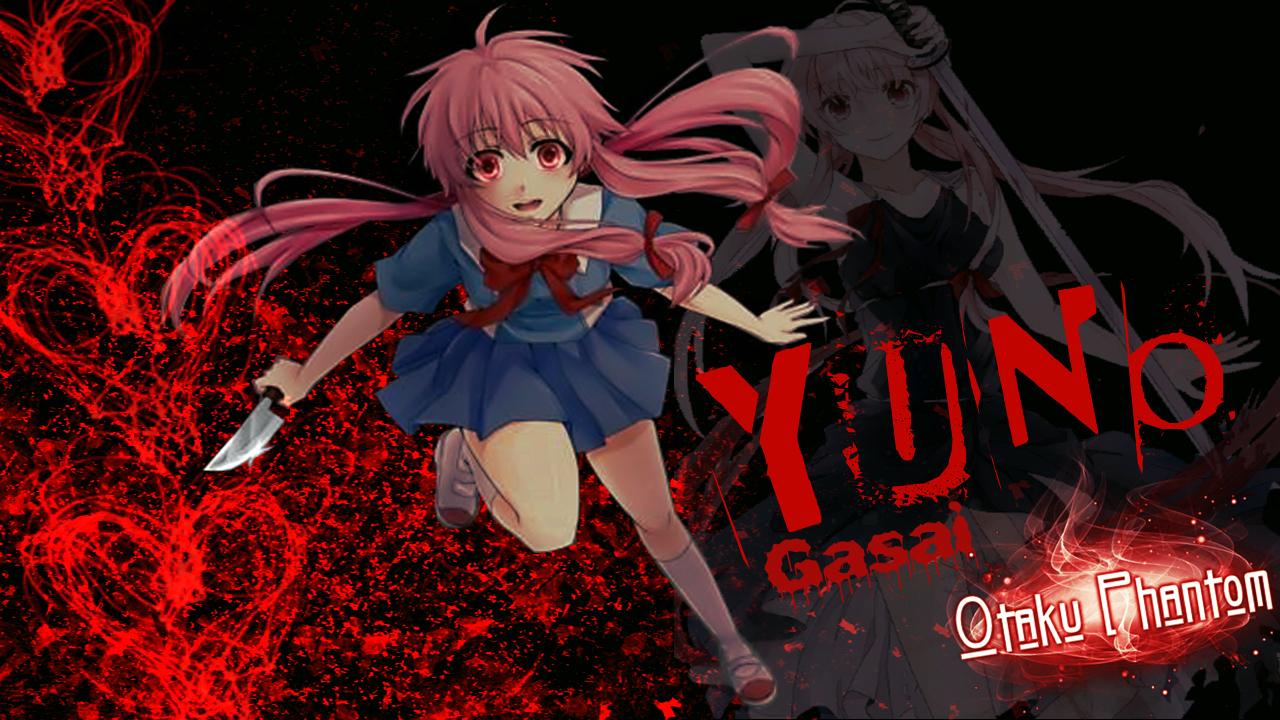 Gasai Yuno Mirai Nikki Blood Wallpaper By Joe By Paulo22s2 On Deviantart
