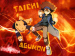 Yagami Taichi and Agumon Digimon Wallpaper by Joe