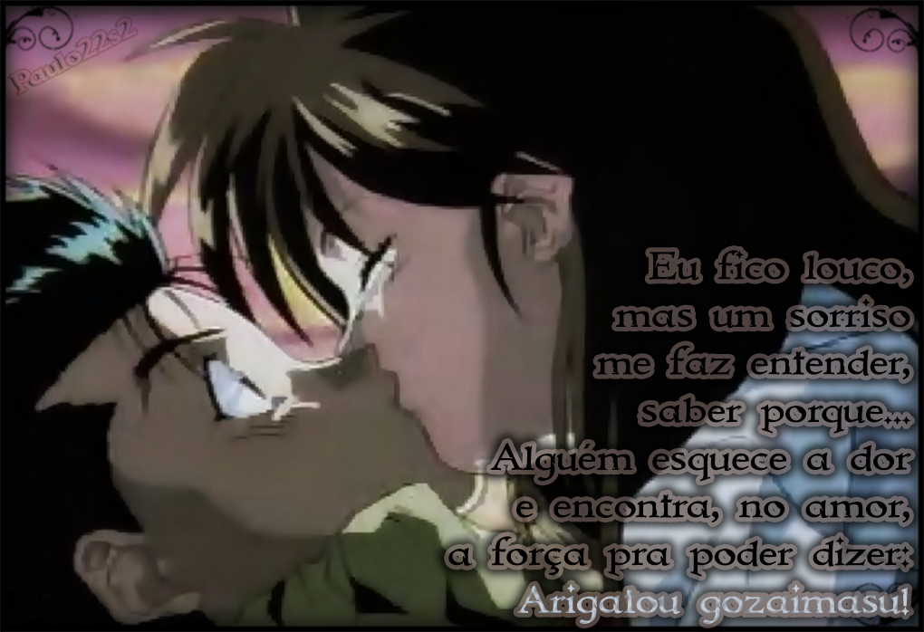 Yusuke And Keiko Yu Yu Hakusho Brazil Op Text Art By