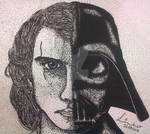 Anakin Skywalker X Darth Vader Nanquim by Linho