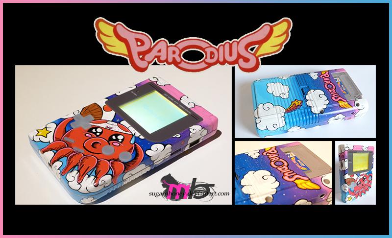 Parodius Custom Game Boy DMG-01 by sugarnhoney