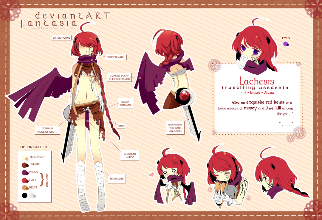 Lachesis Character Sheet By Rosuuri