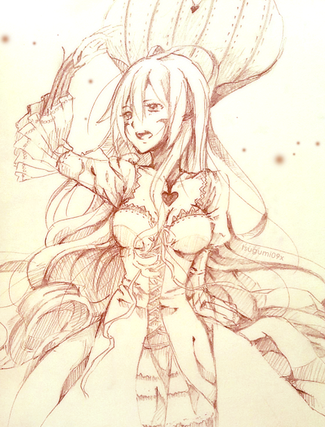 Red Queen sketch by Rosuuri
