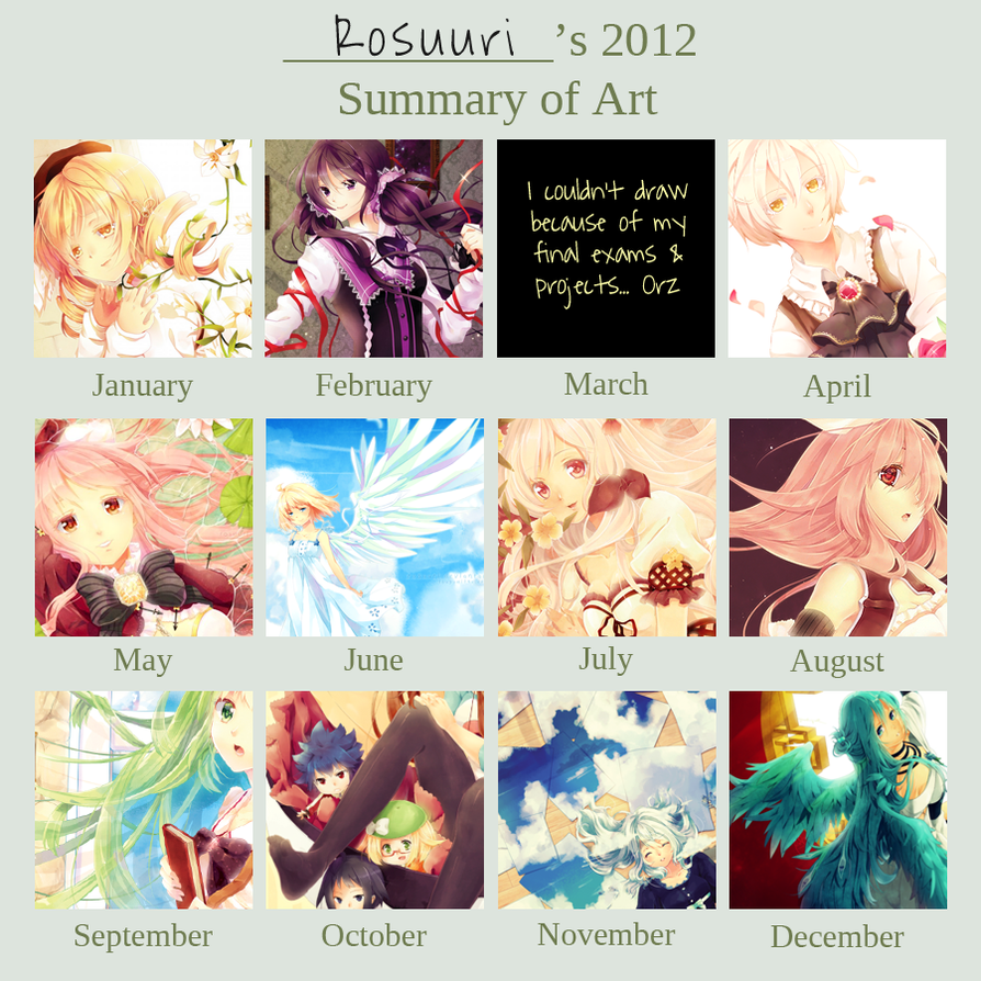 2012 ART SUMMARY by Rosuuri