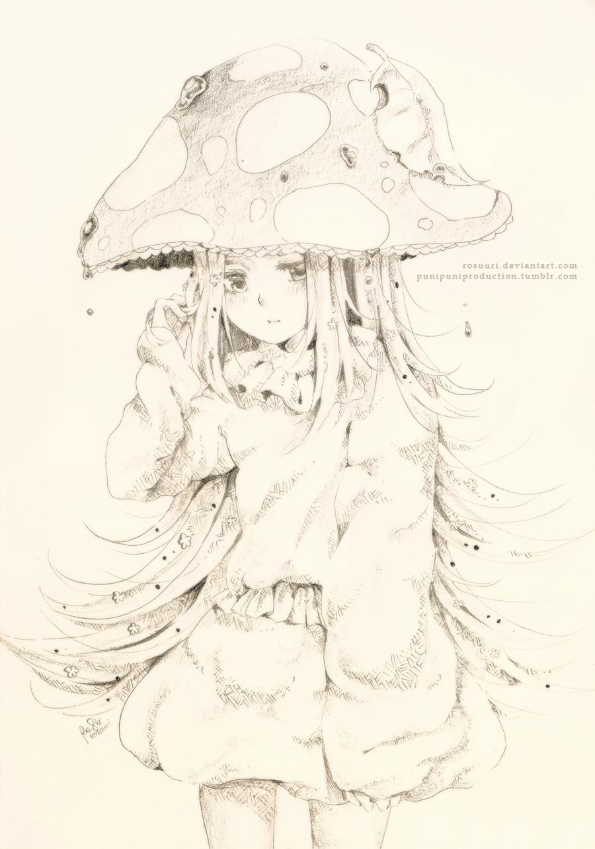Sketch Com - Mushroom by rosuuri