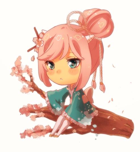 Commission - Sakura by Rosuuri