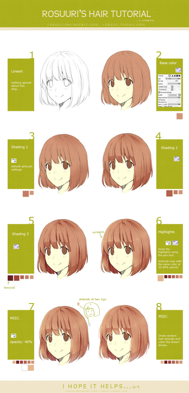 Hair Tutorial By Rosuuri