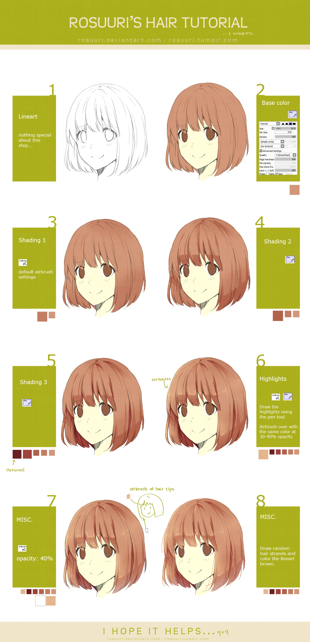 Hair Tutorial By Rosuuri On Deviantart