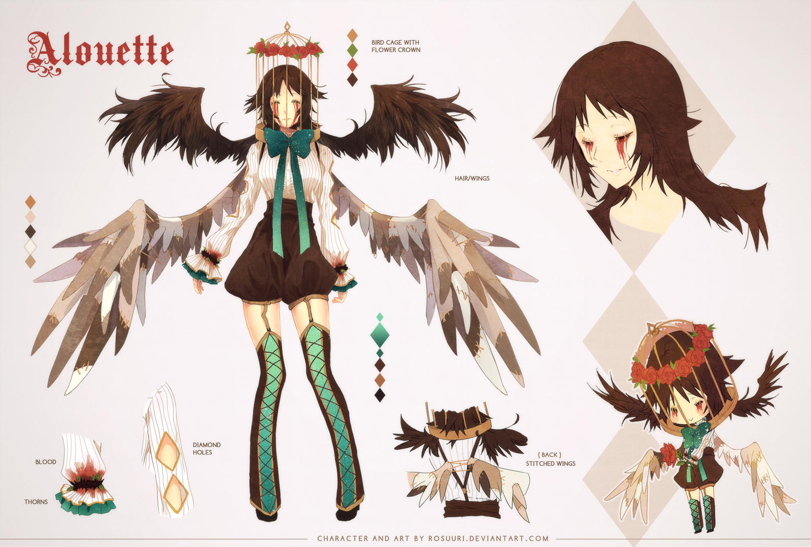 Alouette Ref Sheet by rosuuri