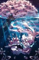 Commission - Underwater Spring by Rosuuri