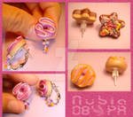 Donuts and cookie studs