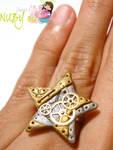 Twinkle Steampunk Star RING