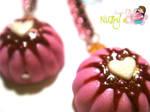 Pink Bundt Cake earrings
