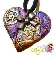 Purple Steampunk Heart by colourful-blossom