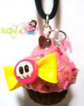 Cute Skull Cupcake necklace