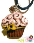 Vintage Cupcake Necklace