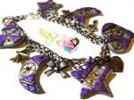 Purple Steampunk bracelet