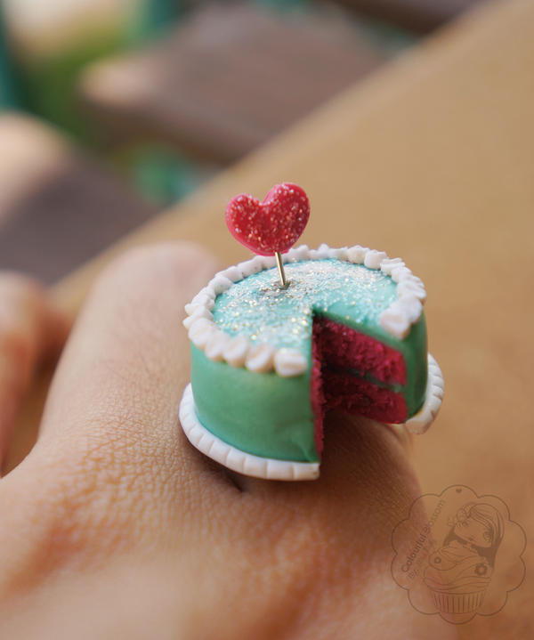 I Heart Cake Ring by colourful-blossom