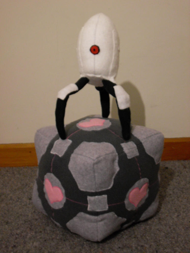 Companion Cube Plushie by channellehazel