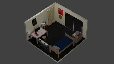 Low Poly Dorm Room by SeanBrooker