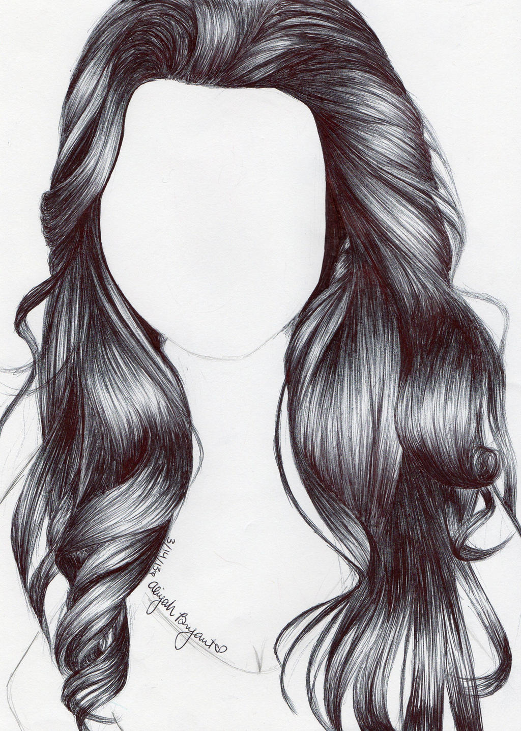 Pen Hair Study by AmateurDrawer on DeviantArt