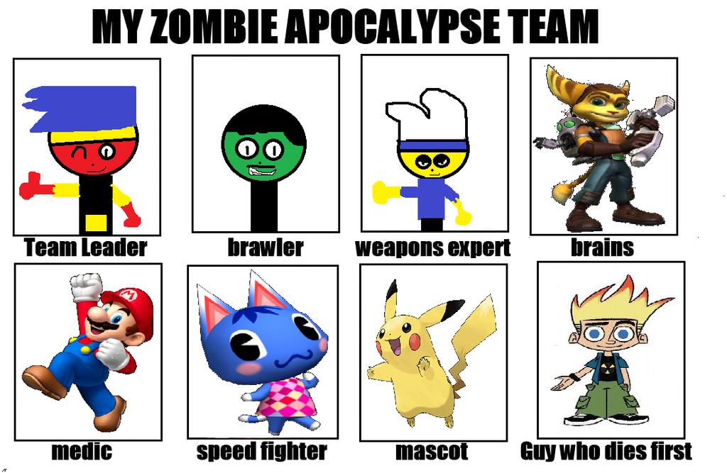 My Zombie Apocalypse Team by carmenramcat
