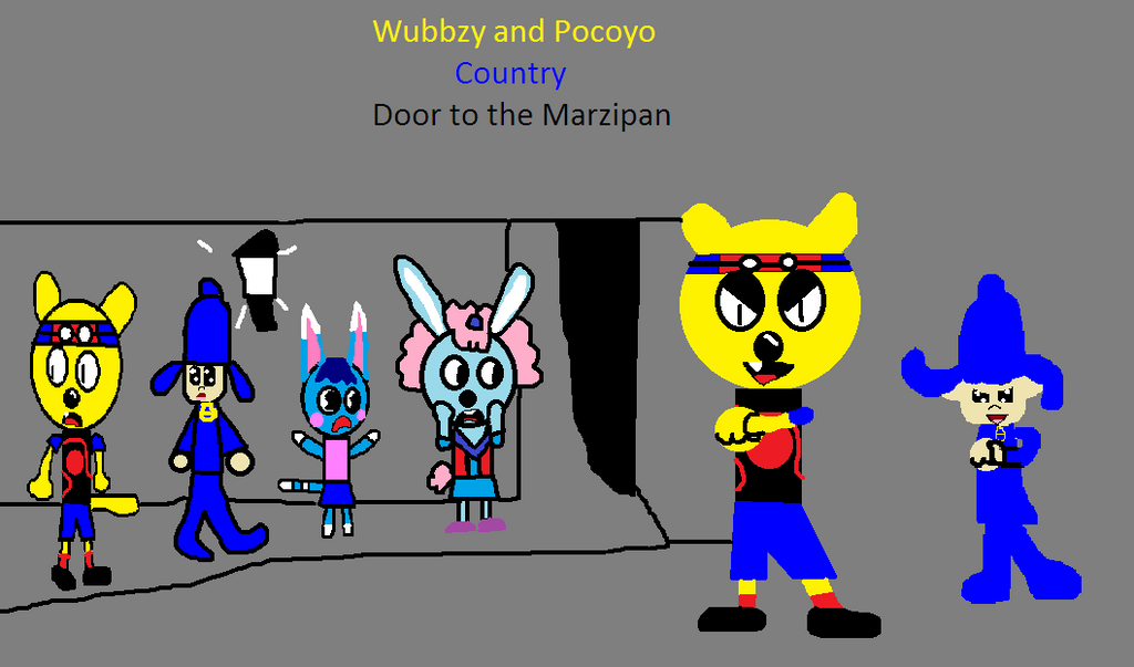Wubbzy and Pocoyo Country Door to the Marzipan by carmenramcat .