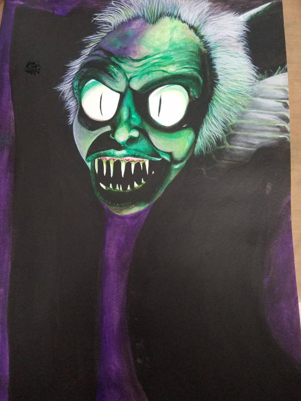 Beetlejuice Snake Painting By Meisterash On Deviantart