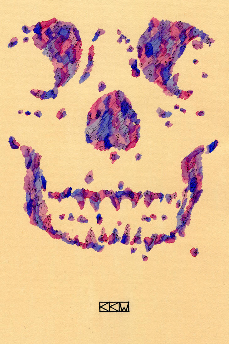Skull Design Executed w/ Cezanne-inspired Strokes by Crigger