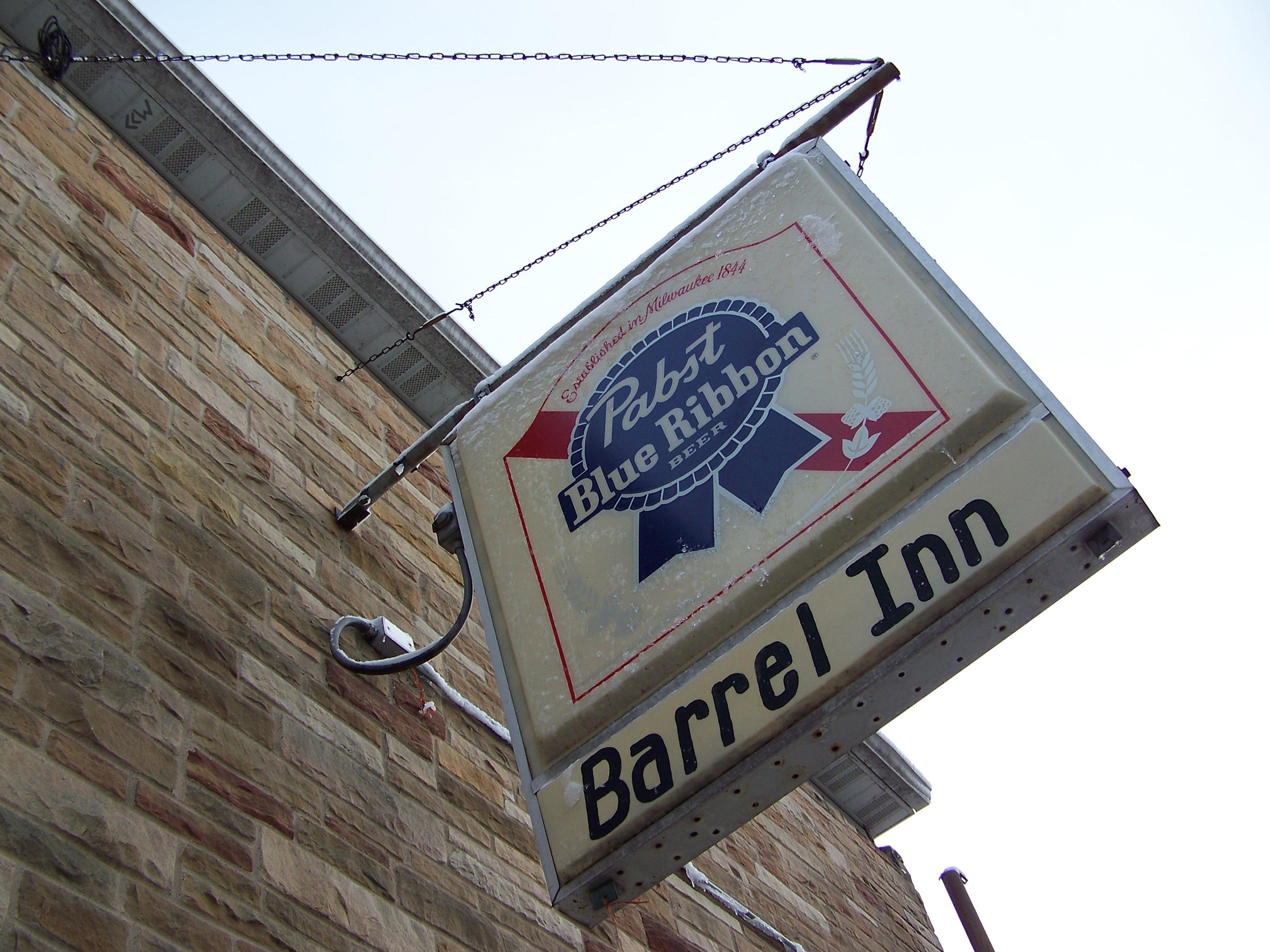 Kims Barrel Inn PBR sign St. Pt., WI 4/14/2014 624 by Crigger