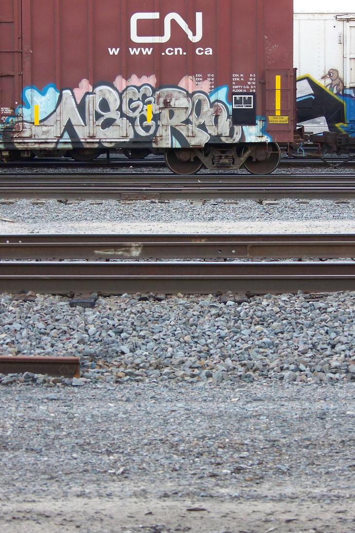Train graffiti seen around St.Pt., WI 7/6/14 8:32 by Crigger