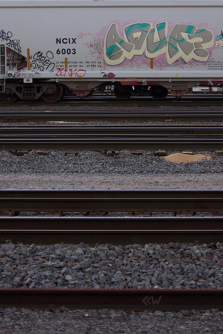 Train graffiti seen around St.Pt.,WI 7/6/2014 8:26 by Crigger