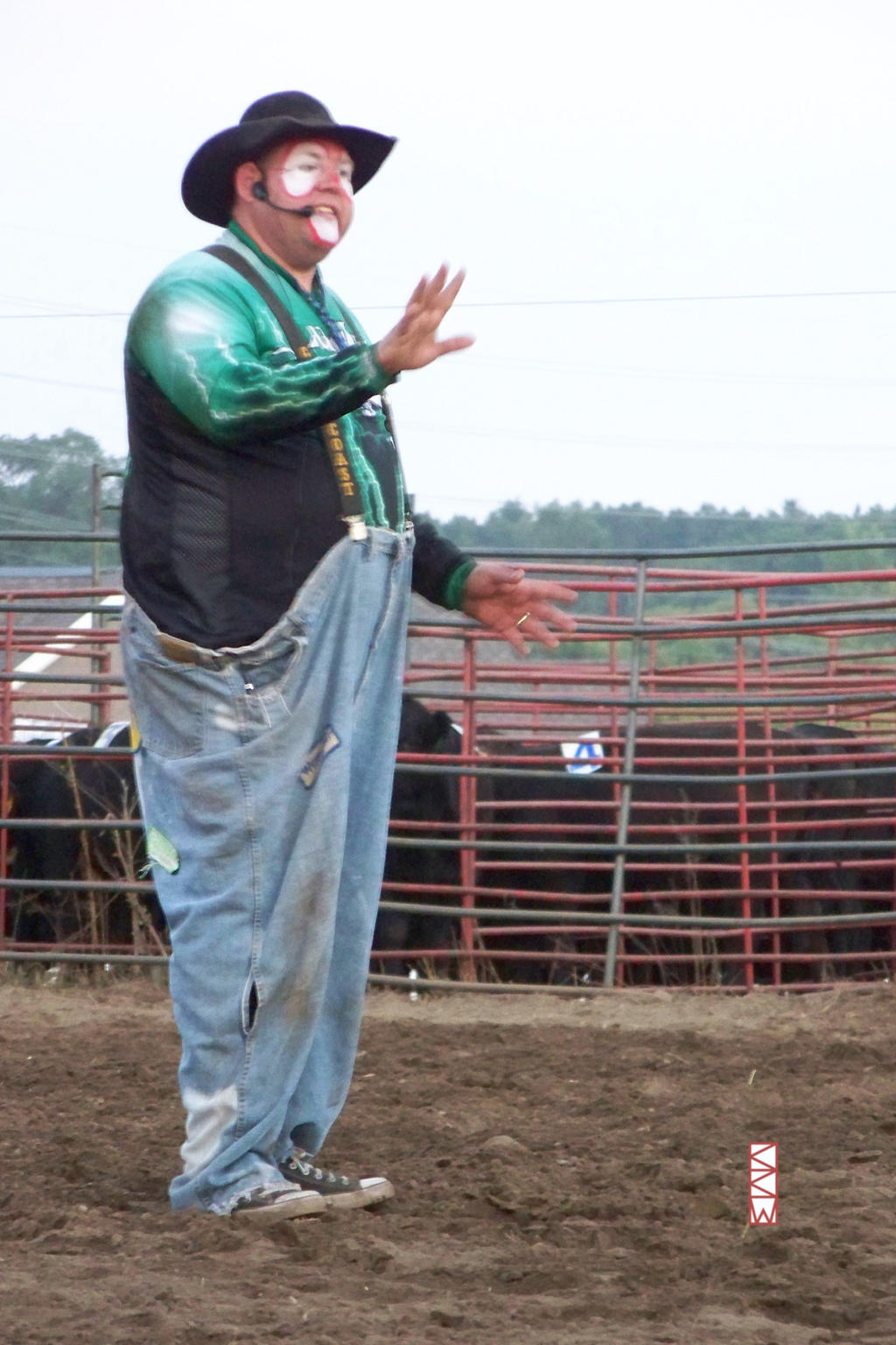 Rodeo Clown at Wild West Days, ViroquaWI 2014 8:08 by Crigger