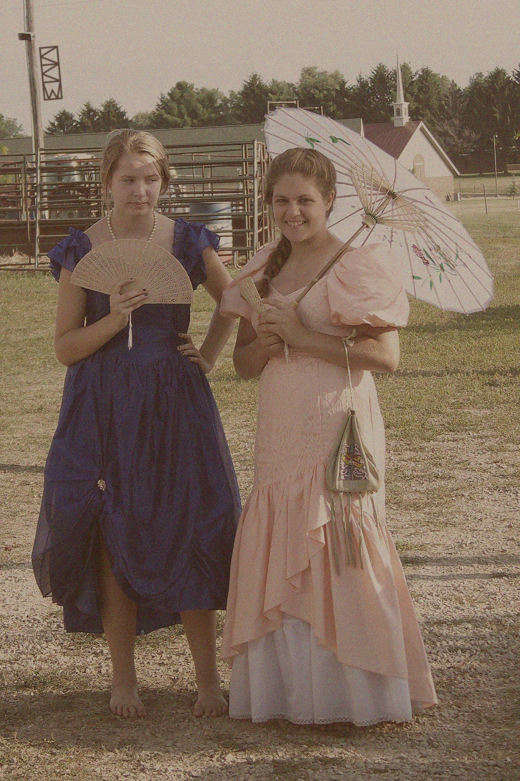 2 Young Ladies at WildWestDays inViroquaWI 8/16/14 by Crigger