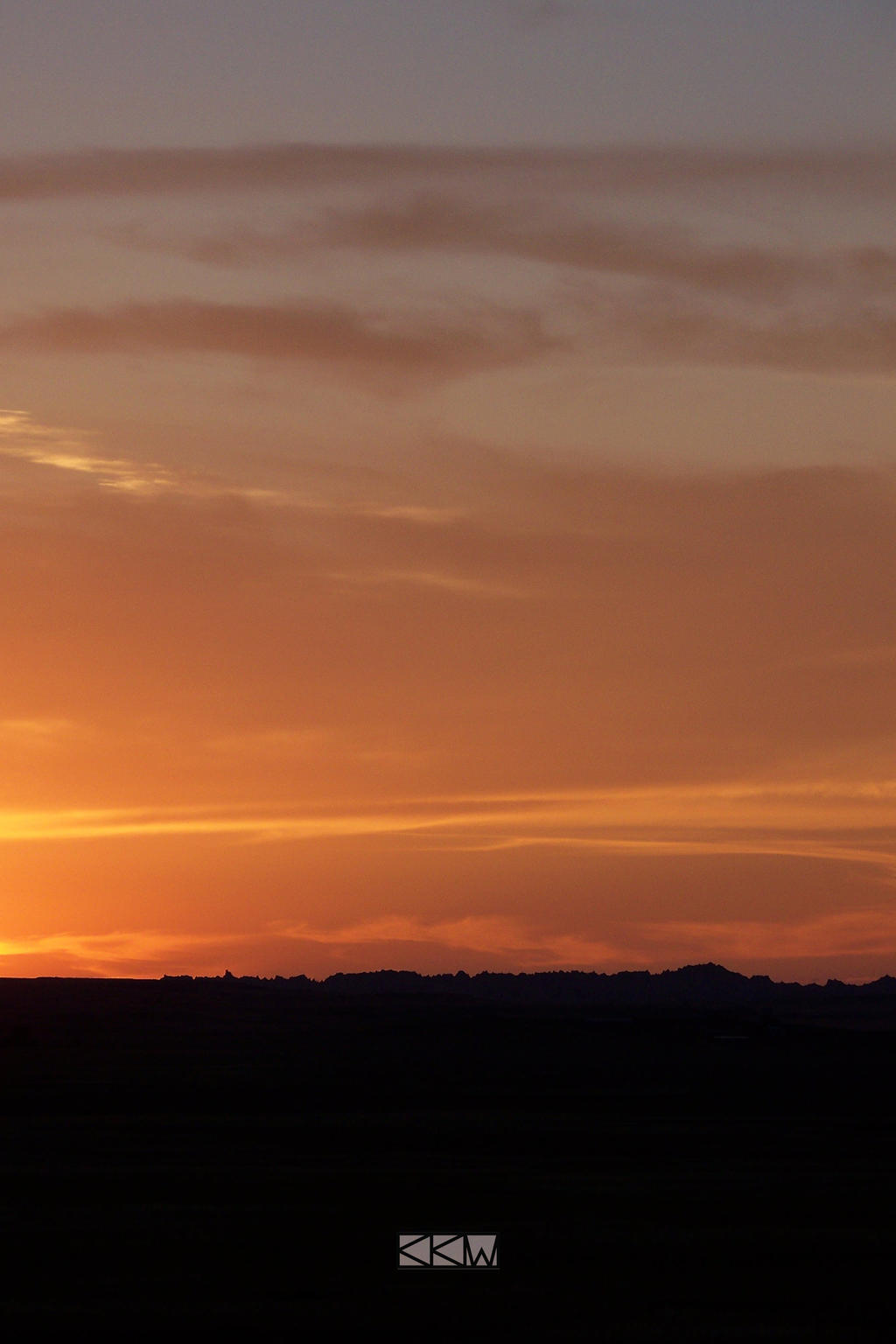 Sunset from BadlandsNationalPark SD 8/24/2013 7:35 by Crigger