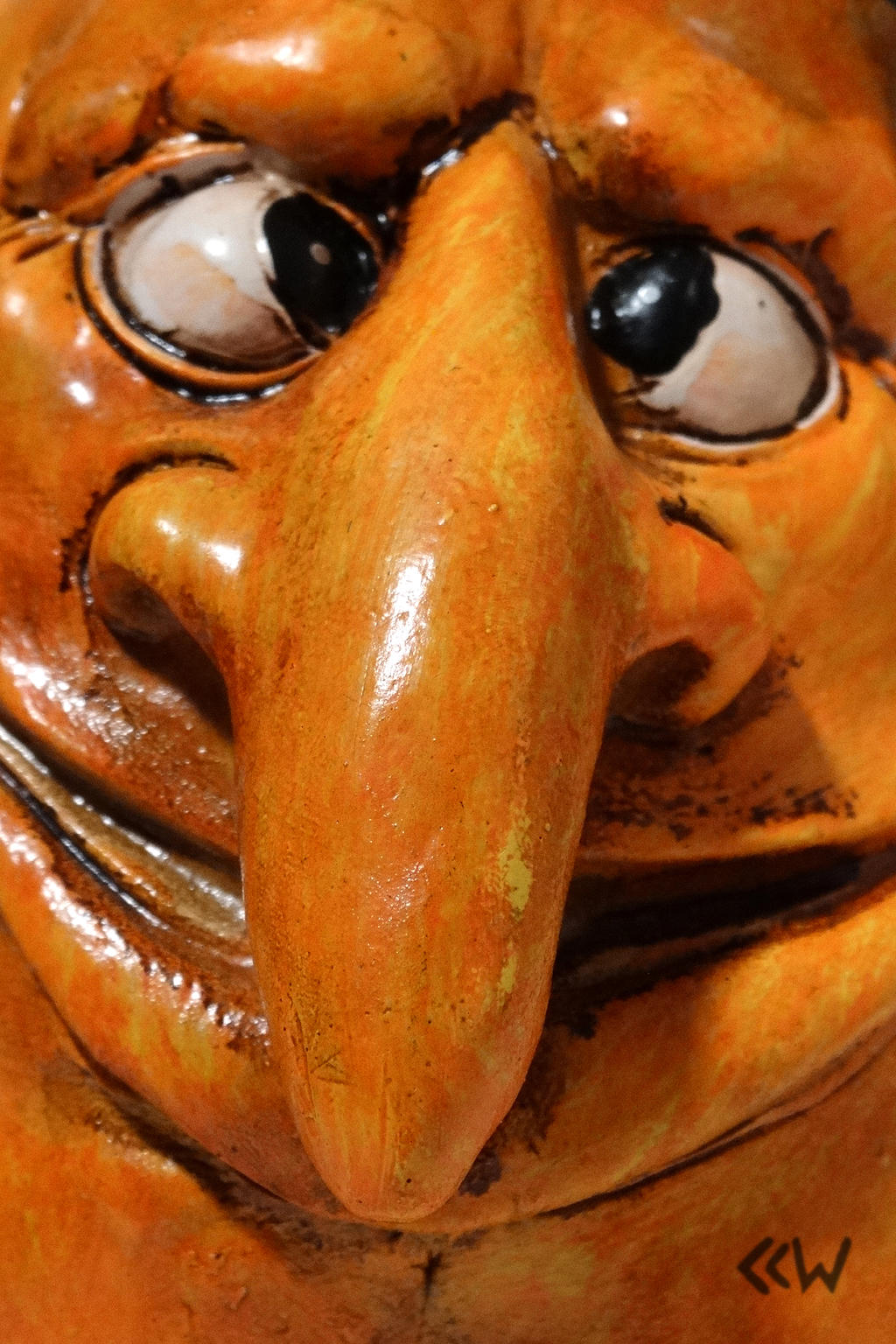 Resin Pumpkin Decoration (face detail) by Crigger