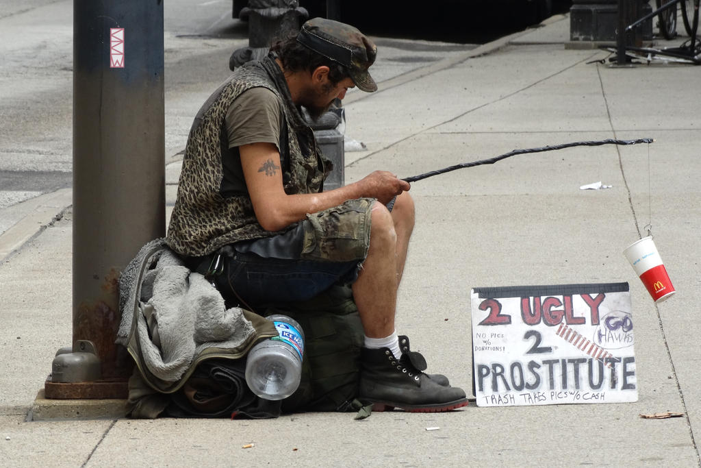Beggar in Chicago, IL  6/29/2015 9:46AM by Crigger