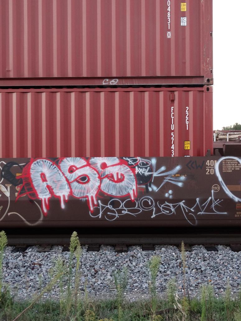 TraingraffitiseenaroundStPt WI 9/13/2015 6:19 ASS by Crigger