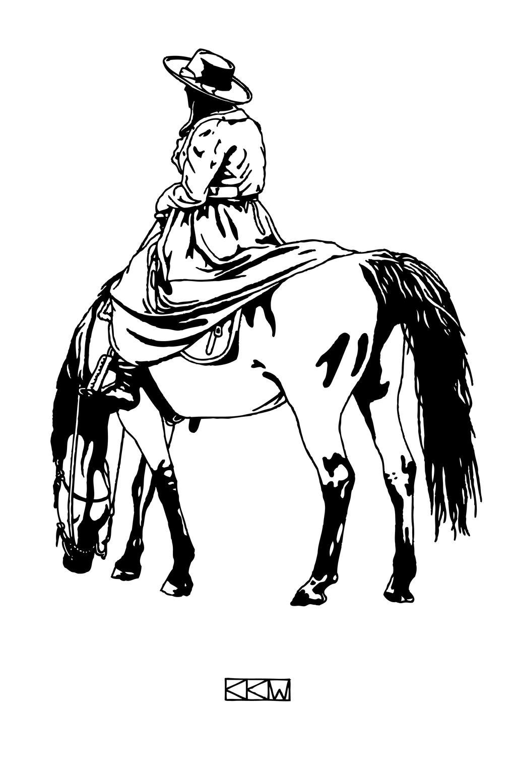 Lady on Horseback by Crigger
