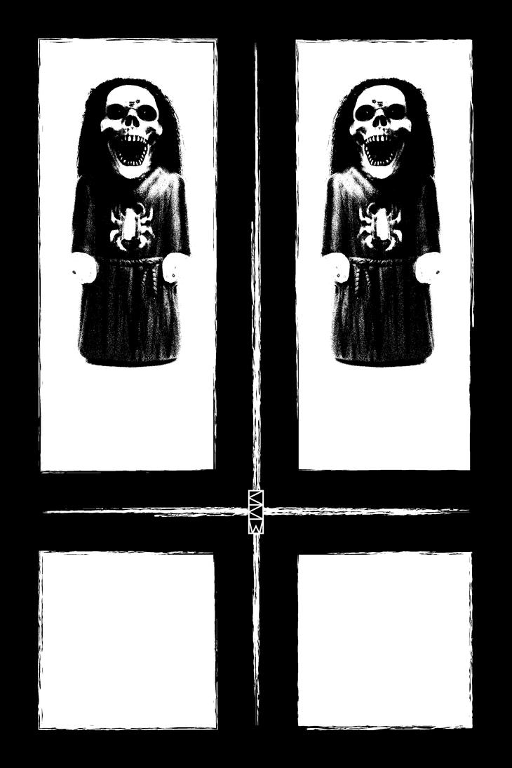 CULT OF CRIGGER (logo) (black and white version) by Crigger