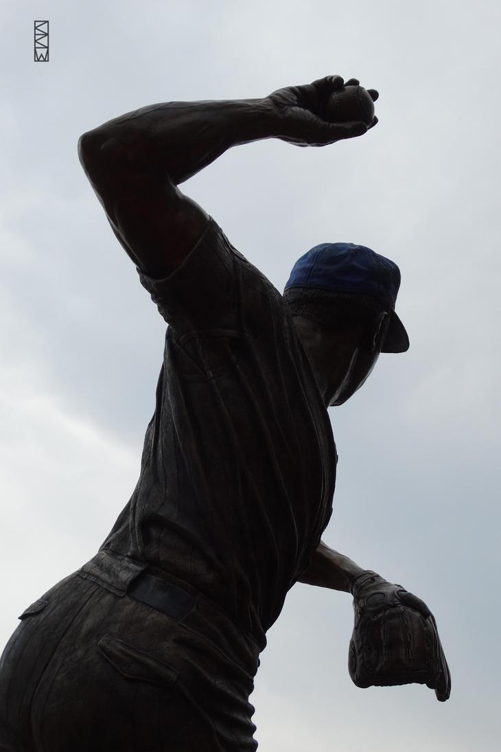 Ron Santo statue Wrigley Field Chicago IL 6/29/15 by Crigger