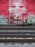 Train graffiti seen around StevensPoint WI 5/25/20 by Crigger