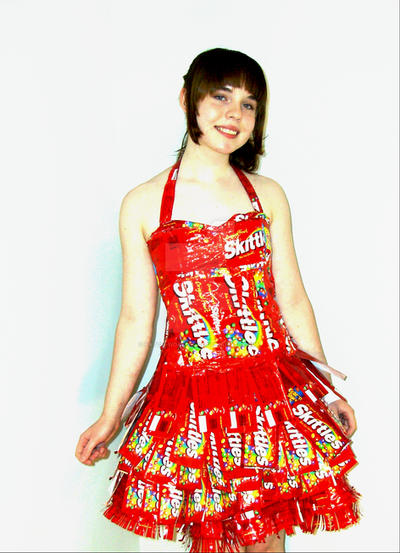 The infamous skittles dress by patch-work-alice