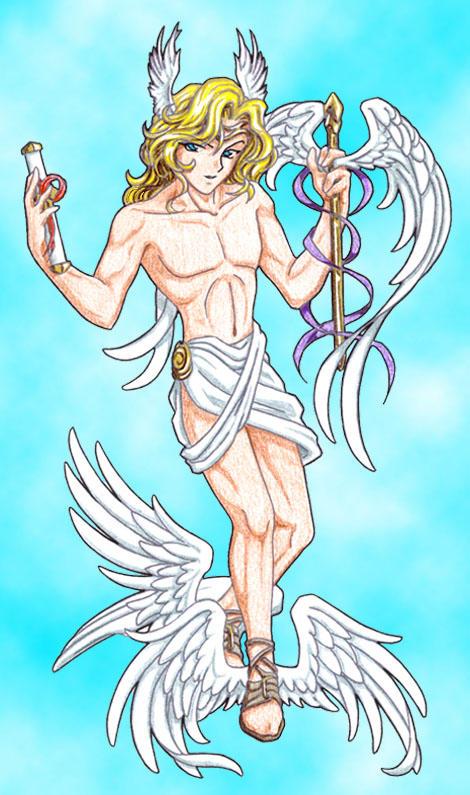 Resultado de imagen para hermes mythology anime