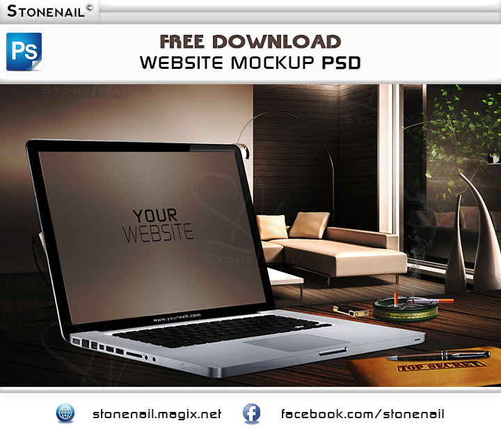 Website Mockup Psd Free: FREE Website Mockup PSD By Stonenail On DeviantArt