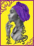 Purple Head Wrap BG