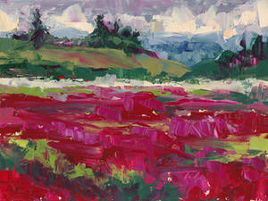 Clover Hills - abstracted plein air landscape
