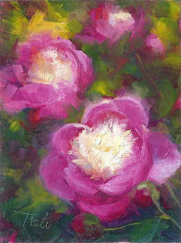 Bowls of Beauty - peony oil painting